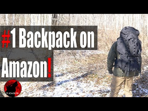 Best Selling Pack on Amazon - AmazonBasics 55L Backpack with Rainfly