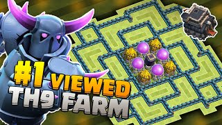Clash Of Clans - Most Viewed Town Hall 9 Base 2015 - Town Hall 9 Defence/Farming With Air Sweepers