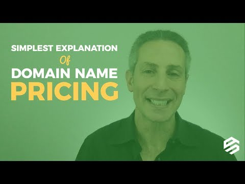 Simplest Explanation of Domain Name Pricing