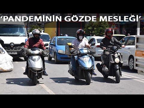 Pandeminin Gözde Mesleği; Motosikletli Kurye