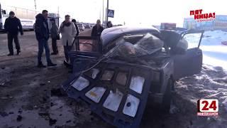 Столкнулись автобус и два автомобиля. Есть пострадавшие