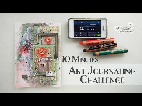 10 Min Art Journaling with Maremi