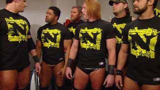 Raw: Wade Barrett and The Nexus huddle in the locker room