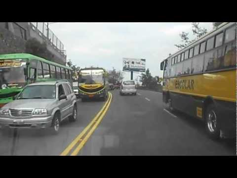 From Cumbaya to Quito Rush Hour Traffic 4PM WED 19 DEC 2012 ECUADOR