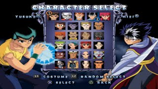 Yu Yu Hakusho Dark Tournament All Characters [PS2]