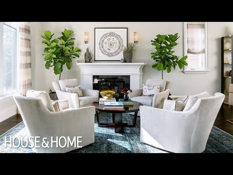 Tour A Traditional Living-Dining Room With A Twist