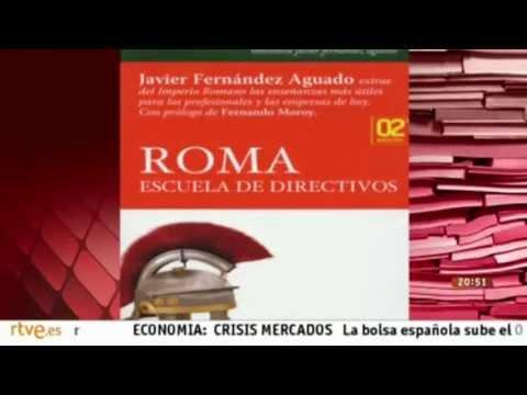 El libro «Roma, escuela de directivos» de Javier Fernández Aguado en TV