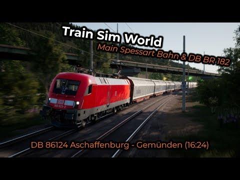 TSW: MSB - DB 86124 Aschaffenburg - Gemünden (16:24) with BR 182