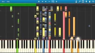 Barry Manilow - Copacabana - Piano Tutorial - Synthesia Cover