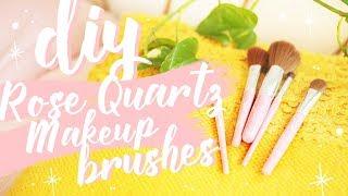 DIY Rose Quartz Makeup Brushes! *easy* | tashaleelyn