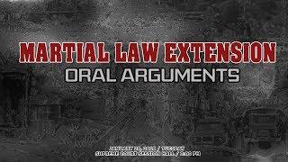 Jan. 29, 2019 - Martial Law Extension Oral Arguments