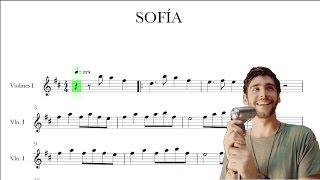 Alvaro Soler - Sofia - Violín Partitura