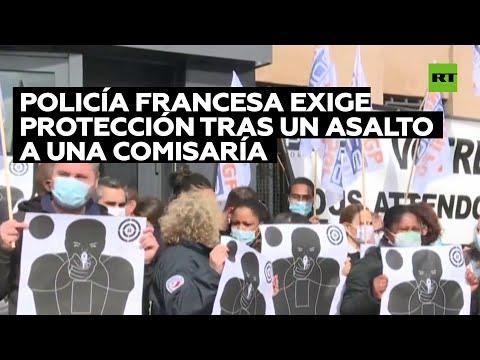 La Policía francesa exige protección tras el asalto a una comisaría