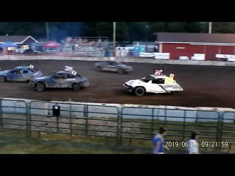 Manchester Community Fair 2019 Figure Eight FEATURE!!!!! (FWD cars) (7-13-2019 ) Manchester,Michigan