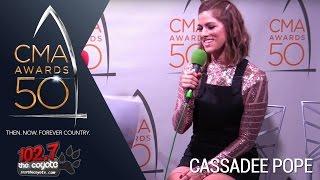 CMA Awards 50: Cassadee Pope Talks Chris Young Tour & Seeing Trisha/Garth Duet!