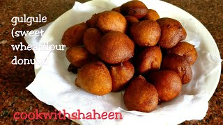GULGULE | SWEET DONUTS | WHEAT FLOUR DONUTS RECIPE WITH ENGLISH SUBTITLES width=