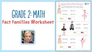 Grade 2: Math - Fact Families Worksheet | Kids Academy