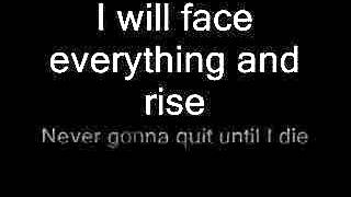 Papa Roach-Face Everything and Rise with lyrics