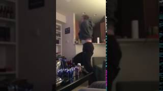 Patriots Fan Loses his Shit - Superbowl 2017