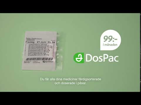 Apoteket DosPac - få dina mediciner färdigsorterade och doserade