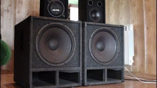 Fast Bass test [In My Mind]  2x Eminence subwoofer's