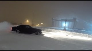 BMW e34 winter drift