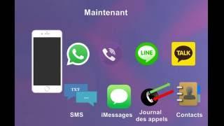 iPhone: récupérer WhatsApp, Viber, iMessages, SMS, contacts, Line, KakaoTalk et journal des appels