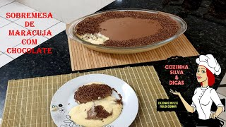 Sobremesa de Maracujá Com Chocolate, Simples Mas Deliciosa