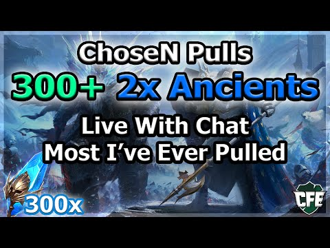 RAID Shadow Legends | ChoseN Pulls 300+ 2x Ancients! | Live With Chat