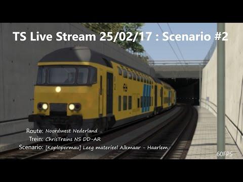 [Koplopermau] Leeg materieel Alkmaar - Haarlem (Livestream 25/02/17)