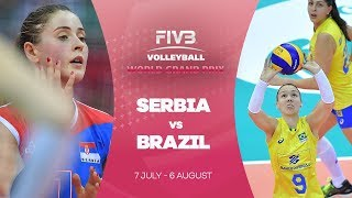 Serbia v Brazil highlights - FIVB World Grand Prix