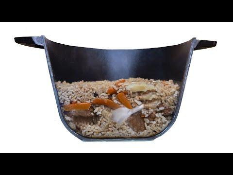 Плов изнутри. Как сделать прозрачный котелок и сварить в нем плов. Стройхак. photo