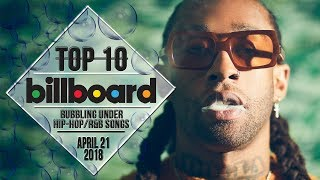 Top 10 • US Bubbling Under Hip-Hop/R&B Songs • April 21, 2018 | Billboard-Charts