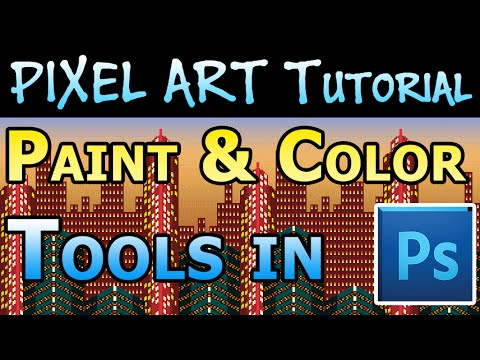 Pixel Art Tutorial - Paint & Color Tools in Photoshop