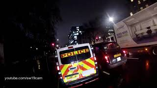 British Transport Police ( @btp ) use blue lights to go through red light to check mobile phone?