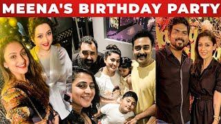 😍Meena-க்கு Midnight Surprise கொடுத்த நடிகைகள் | Nayanthara, Sneha, Pritha Hari | Birthday Party