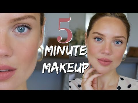 5 Minute Makeup with 5 Products | Quick Mom Makeup | Elanna Pecherle