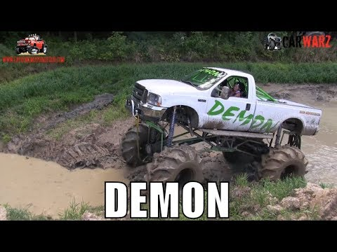 DEMON Mega Truck In The Nightmare Trench At Nightmare Racing Mud Bog 2018