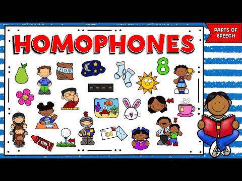 PARTS OF SPEECH - VIDEO 1: HOMÓFONOS EN INGLÉS   HOMOPHONES IN ENGLISH