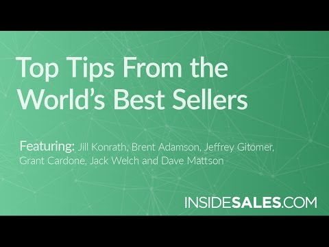 TOP TIPS FROM THE WORLD'S BEST SELLERS - Jill Konr
