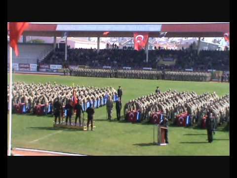 Çanakkale 116. Jandarma Er Eğitim Alayı' 1992/ 1 tertip  Erlerin Yemin Töreni