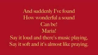Maria Lyrics - West Side Story