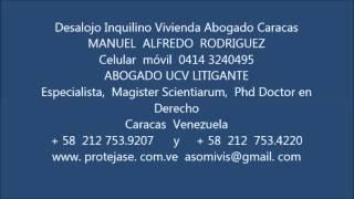 Desalojo Inquilino Vivienda Abogado Caracas