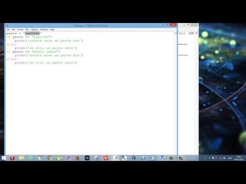 Tutoriale Video Python nr 21 despre if-else si elif