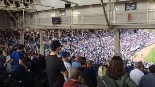 VIDEO: Cubs fans react to Freeman's game-ending strikeout