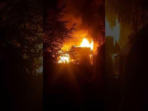 Пожар в сыктывкарском Лесозаводе