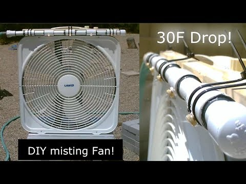 "DIY Evap Cooling Fan! - Homemade ""misting style"" Evap Air Cooler! - Simple Box-Fan Conversion!"