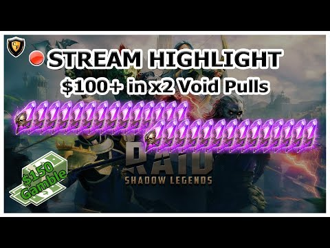 RAID Shadow Legends | Stream Highlight | $100+ Live x2 Void Pulls