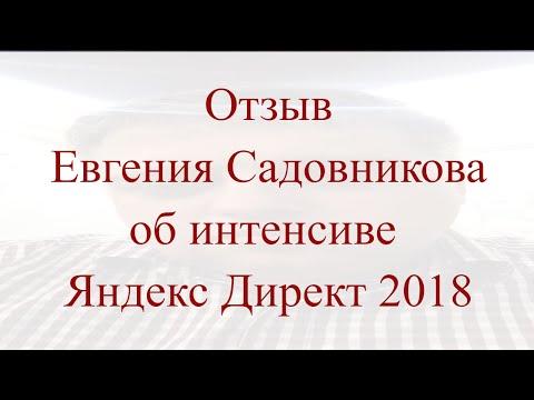 Отзыв на интенсив Яндекс Директ — 2018, Евгений Садовников