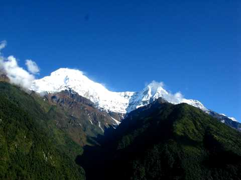 view from chomrong – ABC trek